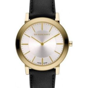 New Burberry Men's Bu2353 Slim Tone Quartz Watch